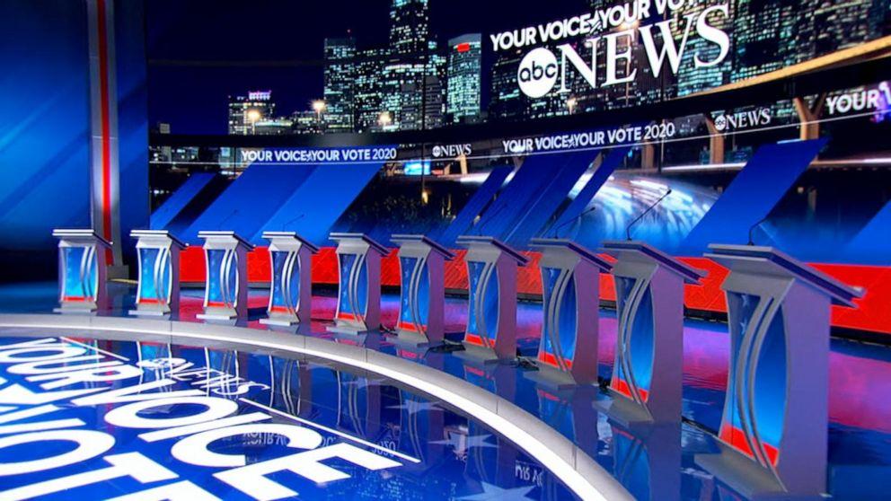 UHR: EIN Blick auf ABC News' 2020 Präsidentschafts-Debatte in Halle