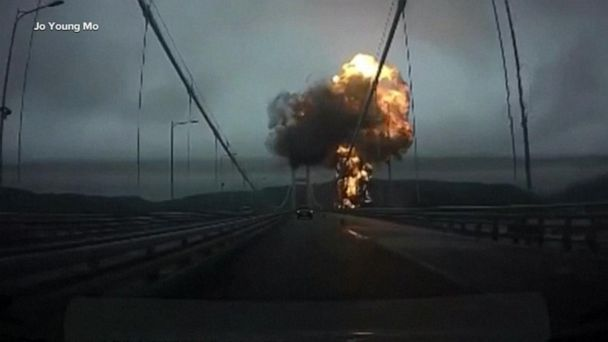 At least 9 people hurt when oil tanker explodes in South Korean port