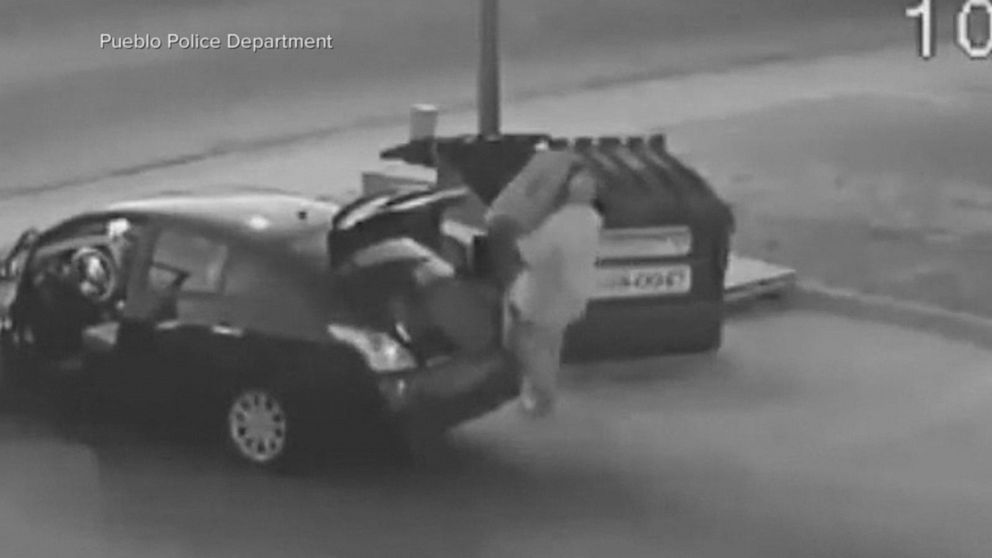 Police searching for person seen on video putting body in dumpster