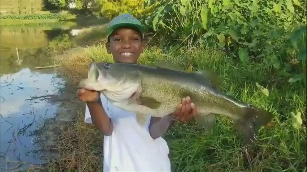 Boy 10 Calls Big Catch A Moment Of A Lifetime After Fishing Trip With His Dad Abc News
