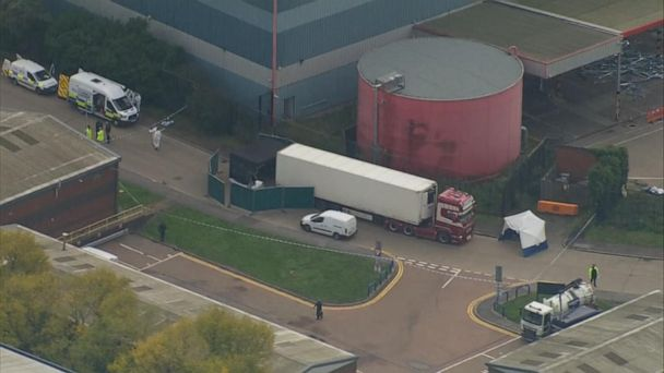 39 bodies discovered in cargo truck outside London