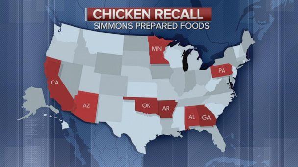 2 million pounds of chicken recalled