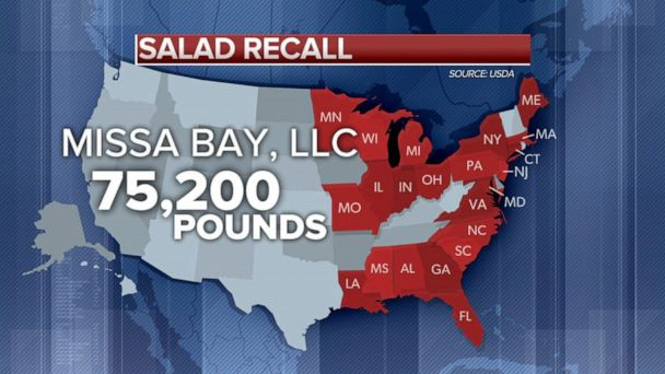 2 food recalls for salad, meat and poultry products
