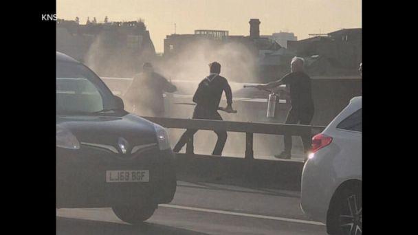 Citizens take down terrorist on London Bridge