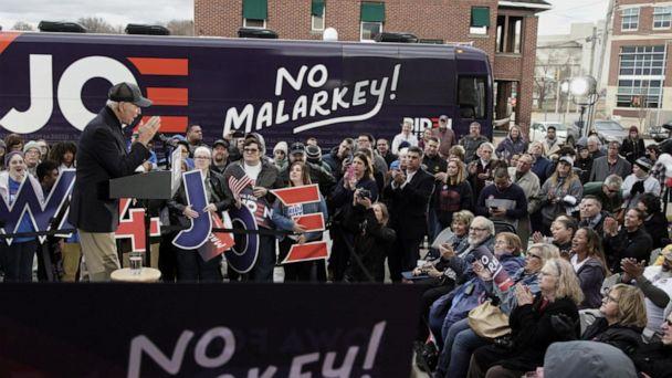 Biden kicks off 'no malarkey' tour across Iowa