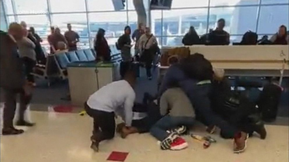 Man 'out of control' at busy DFW airport