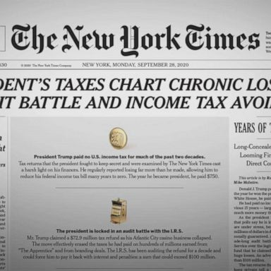 Trump White House Blend Denials Justifications In Reaction To New York Times Story On His Taxes Abc News
