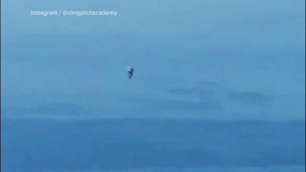 Unknown person appears to be flying jetpack at 3,000 feet Video - ABC News