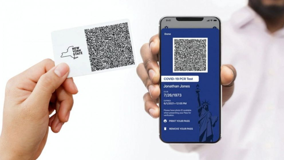 New York state unveils digital COVID-19 vaccine passport