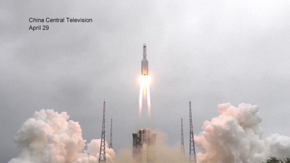 Remnants of Chinese rocket hurtles toward Earth