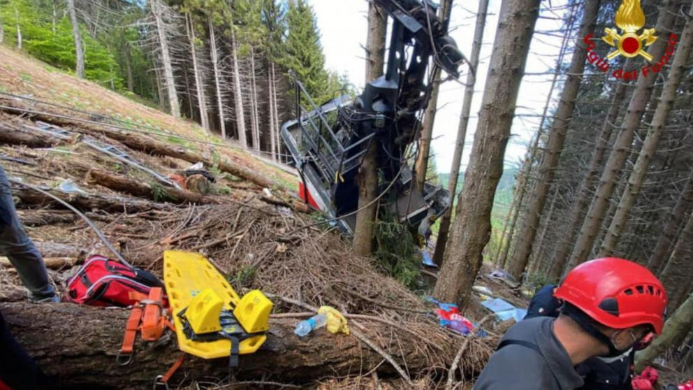 3 arrested in Italy cable car crash; clamp deactivated brake