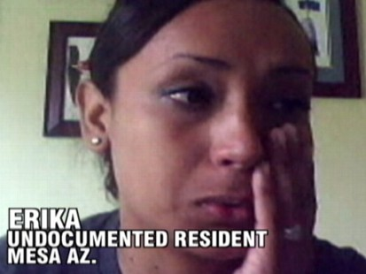 VIDEO: ABCs Diane Sawyer talks with Erika, an undocumented resident in Arizona.