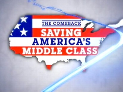 VIDEO: This week, Diane Sawyer reports on the new struggle of being middle class.