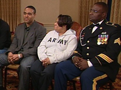 Barack Obama spent time visiting soldiers wounded in Iraq and Afghanistan.