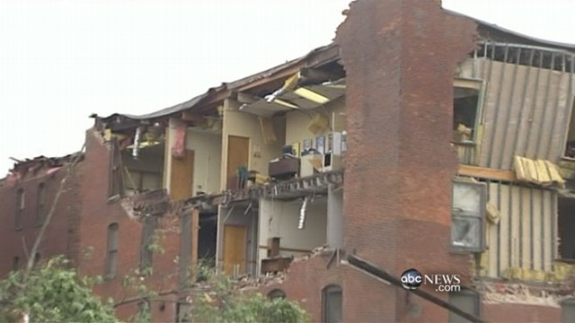 City recovers after twisters sweep through downtown.