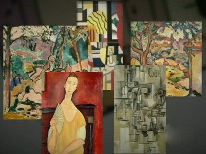 VIDEO: Lax security allowed a lone thief to walk off with five treasured paintings.