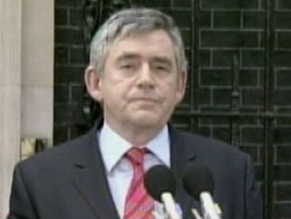 VIDEO: Brown Resigns and Cameron Takes Over