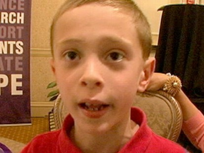 VIDEO: Randy Pauschs 8-year-old son campaigns against pancreatic cancer.