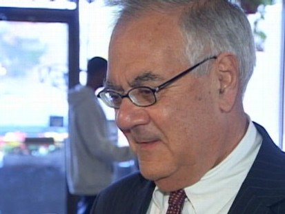 VIDEO: After donating $200K to his own campaign, Frank says hes a Tea Party target.