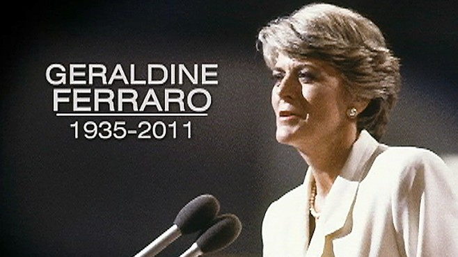 Remembering Geraldine Ferraro