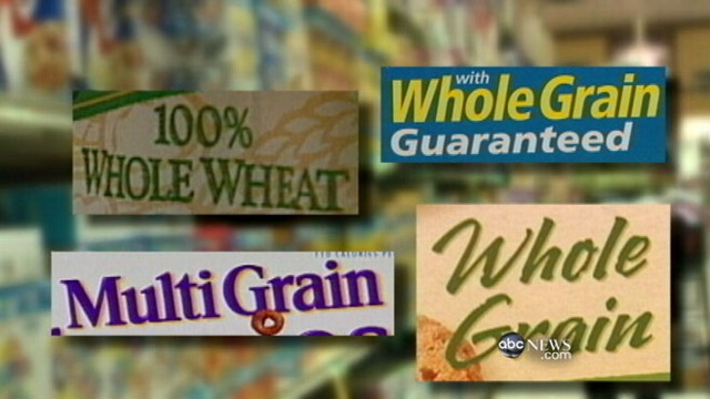 """VIDEO: Labels on """"whole grain"""" and """"whole wheat"""" products can often be deceiving."""