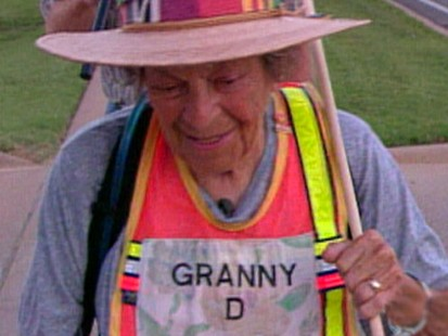 VIDEO: Campaign Finance Reform Activist Granny D Dead at 100