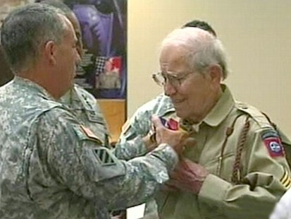 VIDEO: 88-year-old veteran Bob Bearden was finally honored for his part in D-Day.