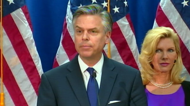 VIDEO: Former Utah Governor throws his support behind frontrunner Mitt Romney.