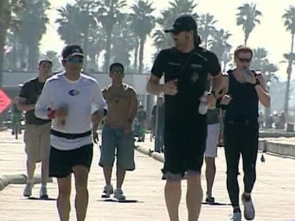 VIDEO: Running marathons to raise money