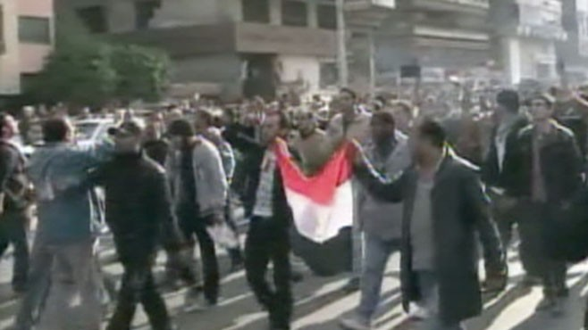 VIDEO: Two protesters and a policeman killed during riots in Cairo.