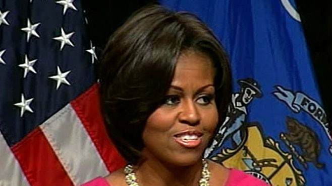 VIDEO: Sharon Alfonsi covers First Lady Michelle Obama on the campaign trail.