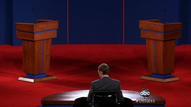 VIDEO: President Obama, Mitt Romney prepare to take the stage in Denver.