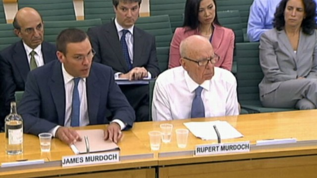 VIDEO: Rupert Murdoch and son James' testimony will decide media empire's fate.