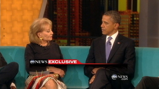 VIDEO: President answers questions about JP Morgan Chase and gay marriage.