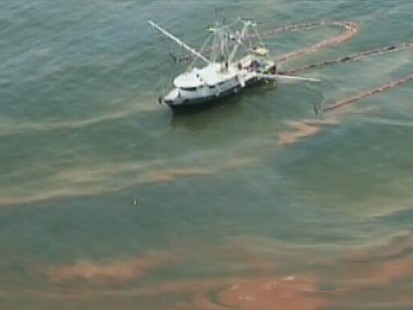 VIDEO: BP enjoys its first small success in its fight to curb the Gulf oil spill.