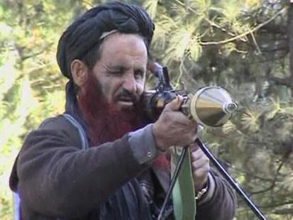 Man with bazooka