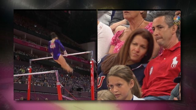 VIDEO: Parents, like Aly Raismans mother, as nervous as the Olympians themselves.