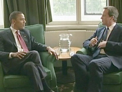 VIDEO: Diane Sawyer talks to David Cameron about the economy, Afghanistan and BP.