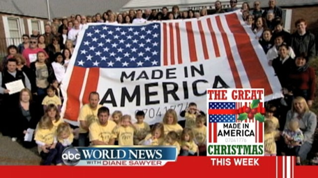 "VIDEO: The great ""Made in America Christmas."""
