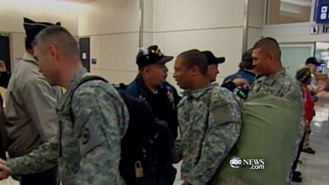 VIDEO: Public demands change after returning U.S. troops charged with baggage fees.