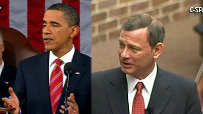 VIDEO: Chief Justice Roberts criticizes presidents comments at the State of the Union.