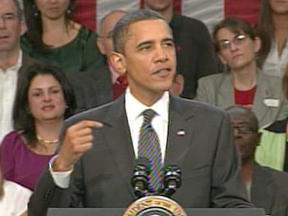 VIDEO: President Obama ties to convince a skeptical public that more jobs are coming.