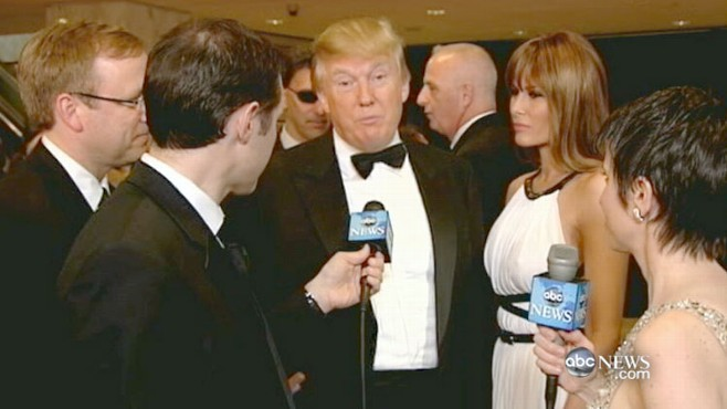 VIDEO: The potential presidential candidate, Donald Trump reacts to the event.