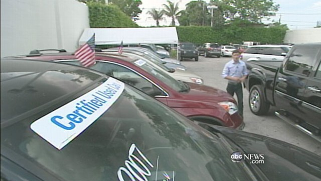 VIDEO: As American families watch their pennies, the used car market sees boost.