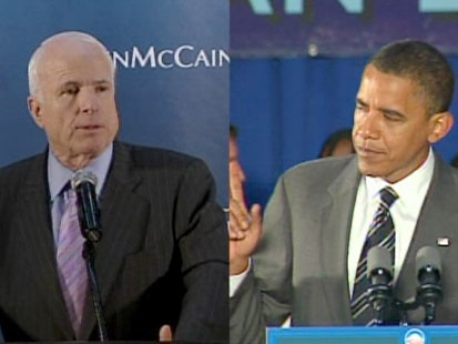 John McCain and barack Obma