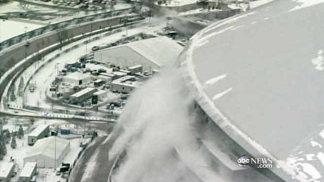 VIDEO: The site of Super Bowl XLV is the latest victim of this years crazy winter.The site of Super Bowl XLV is the latest victim of this years crazy winter.