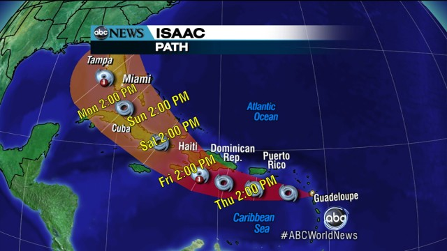 VIDEO: Tropical storm makes its way to Florida in time for the Republican Convention.