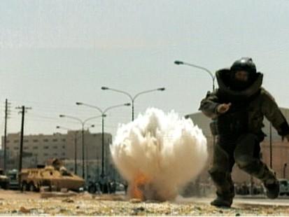 VIDEO: A man running from an explosion