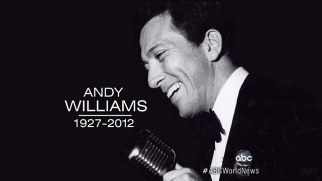 andy williams dead moon river singer remembered - Andy Williams White Christmas
