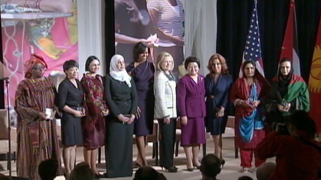 VIDEO: Courageous Women are honored on the 100th International Womens Day.